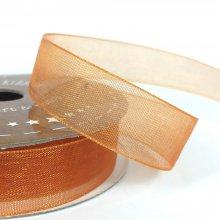 15mm Tropic Organza Ribbon Orange Zest