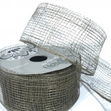 38mm Sinamay Mesh Ribbon Chocolate