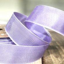 25mm Taffeta Ribbon Lilac - wired edge - 20m