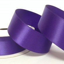 22mm Satin Ribbon Chocolate Purple