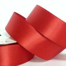 22mm Satin Ribbon Red