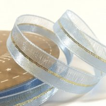 10mm Duo Shimmer Ribbon Light Blue