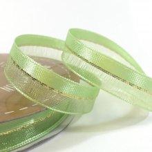 10mm Duo Shimmer Ribbon Pastel Green
