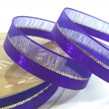 10mm Duo Shimmer Ribbon Purple