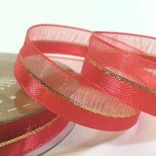 10mm Duo Shimmer Ribbon Red