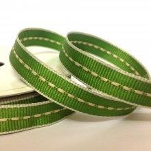 10mm Centre Stitch Ribbon Light Moss
