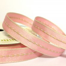 10mm Centre Stitch Ribbon Pink