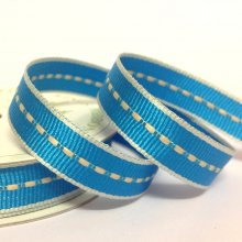 10mm Centre Stitch Ribbon Turquoise