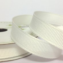 10mm Grosgrain Ribbon White