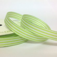 10mm Pastel Candy Stripe Ribbon Light Green