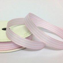 10mm Pastel Candy Stripe Ribbon Light Pink
