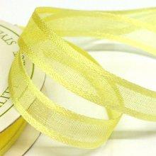 10mm Satin Edge Organza Ribbon Baby Maize