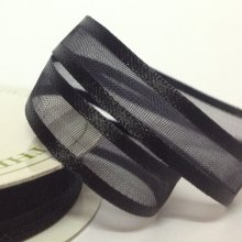 10mm Satin Edge Organza Ribbon Black