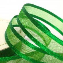 10mm Satin Edge Organza Ribbon Holiday Green