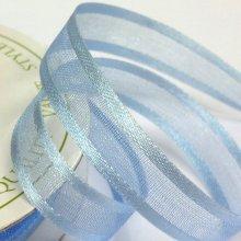 10mm Satin Edge Organza Ribbon Light Blue