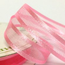 10mm Satin Edge Organza Ribbon Pink Delight
