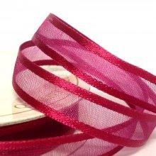 10mm Satin Edge Organza Ribbon Wine