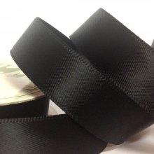 15mm Satin Ribbon Black
