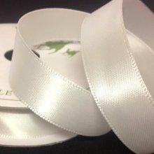 15mm Satin Ribbon Bridal White