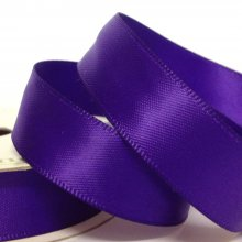 15mm Satin Ribbon Chocolate Purple