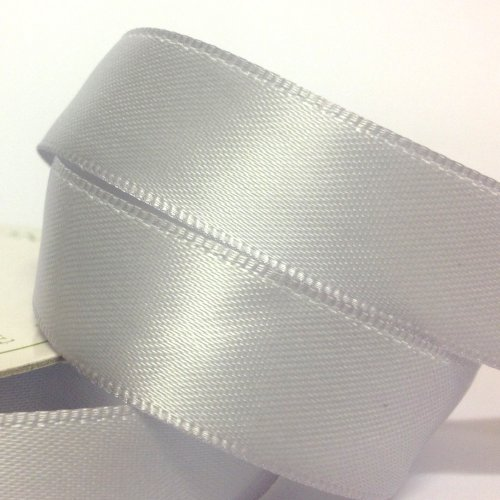 15mm Satin Ribbon Silver Satin Ribbon
