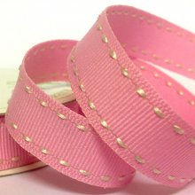 15mm Side Stitch Ribbon Candy Pink