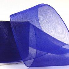 38mm Organza Ribbon Deep Blue