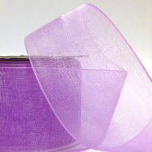 38mm Organza Ribbon Lilac