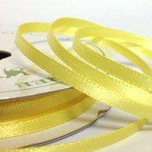 3mm Satin Ribbon Baby Maize