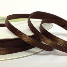 3mm Satin Ribbon Chocolate