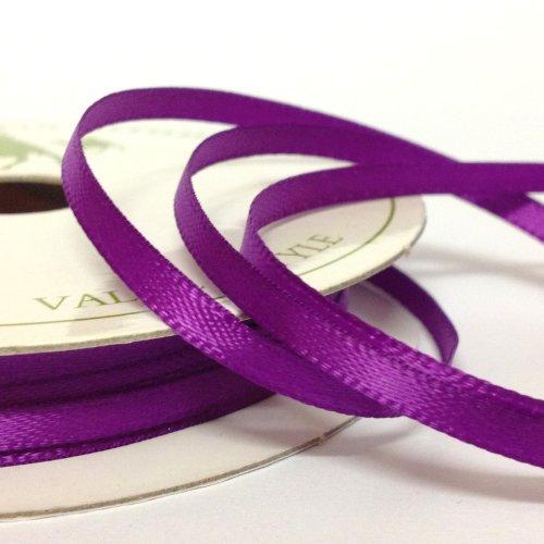 10m Roll 3mm Satin Ribbon Purple