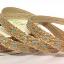 6mm Centre Stitch Ribbon Blue