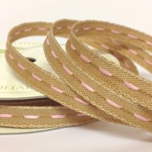 6mm Centre Stitch Ribbon Pink