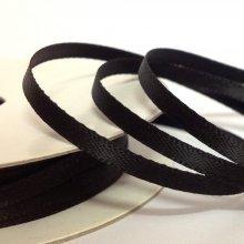 6mm Satin Ribbon Black