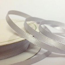 6mm Satin Ribbon Silver