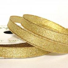 10mm Metallic Ribbon Gold