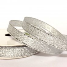 10mm Metallic Ribbon Silver