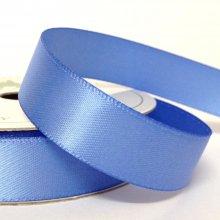 15mm Satin Ribbon Iris Blue