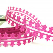 19mm Minuet organza Ribbon Fuchsia