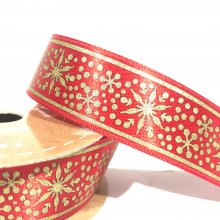 25mm Stars & Snowflakes Ribbon