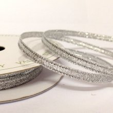 3mm Sparkly Silver Ribbon