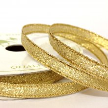 6mm Sparkly Gold Ribbon - 50m