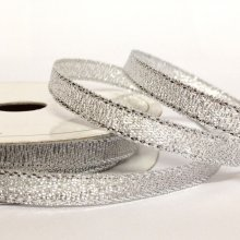 6mm Sparkly Silver Ribbon